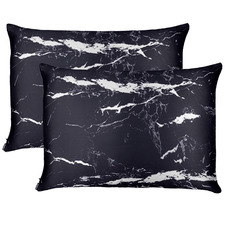 Marble Mulberry Silk Pillowcases (Set of 2)