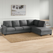Grey Emer 5 Seater Sofa with Chaise