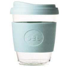 Cool Cyan 354ml Glass Cup