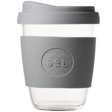 Cool Grey 354ml Glass Cup
