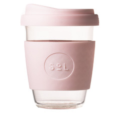 Perfect Pink 354ml Glass Cup