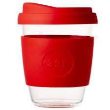 Rocket Red 354ml Glass Cup