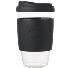 Basalt Black 473ml Glass Cup