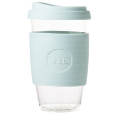 Cool Cyan 473ml Glass Cup