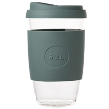 Deep Sea Green 473ml Glass Cup