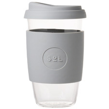 Cool Grey 473ml Glass Cup