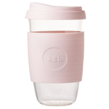 Perfect Pink 473ml Glass Cup