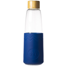 Winter Bondi Blue 850ml Glass Water Bottle