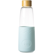 Cool Cyan 850ml Glass Water Bottle