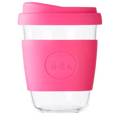 Peacock Pink 354ml Glass Cup