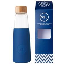 Winter Bondi Blue 410ml Glass Water Bottle