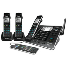 3 Handset XDECT8355+2 USB Charging Cordless Phone System