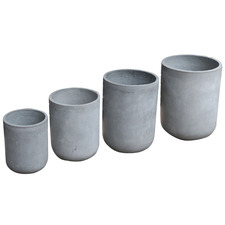 4 Piece Fibre Clay Pot Set