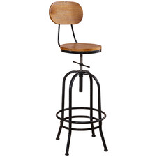 Inigo Retro Industrial Adjustable Barstool