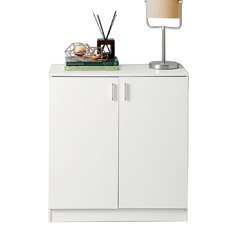 White Nathaniel Wooden Shoe Cabinet