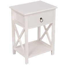 White Joely Bedside Table