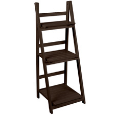 Ashanti 3 Tier Wooden Ladder Wall Shelf