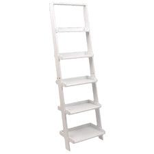 Farrell 5 Tier Wooden Ladder Shelf