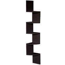 Brooke 5 Tier Modern Corner Wall Shelf