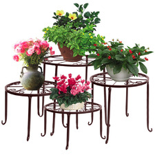 4 Piece Metal Pot Plant Stand Set
