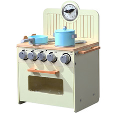 Cream Kids' Wooden Kitchen Play Set