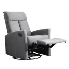 Grey Lazar Linen Recliner Chair