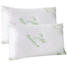 Large Veda Bamboo-Blend Memory Foam Pillows (Set of 2)
