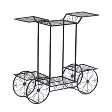 Mara Steel Pot Plant Stand with Wheels