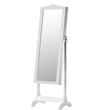 White Anja Jewellery Cabinet & Mirror