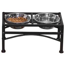 Pawz Stainless Steel Elevated Dual Pet Bowls