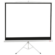 White Portable Screen Projector with Tripod Stand