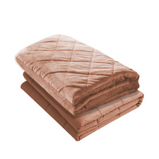 Dusty Pink DreamZ Cotton Single Weighted Blanket