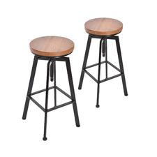Jameson Retro Industrial Swivel Adjustable Barstools (Set of 2)