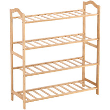Natural Madeline 4 Tier Bamboo Shoe Rack