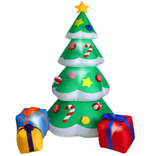 Gift Boxes Inflatable Christmas Tree with LEDs