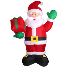 Standing Santa Claus With A Gift Box Inflatable