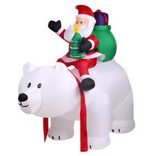 Santa Claus & Bear Inflatable