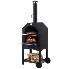 3-In-1 Portable Wood Fired Oven, Smoker & Grill