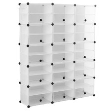 Levede 15 Compartment Shoe Cubby Rack