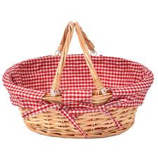 Deluxe Wicker Oval Picnic Basket