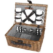 4 Person Deluxe Picnic Basket Set