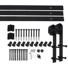 Levede Muir 366cm Double Barn Door Track Roller Kit