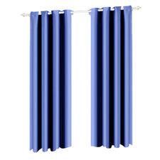 Navy Eyelet Blockout Curtain Panels (Set of 2)
