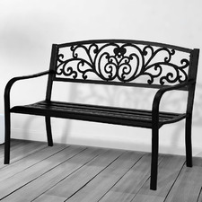 3 Seater Hutchings Metal Garden Bench