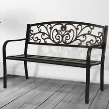 3 Seater Hutchings Metal Garden Bench