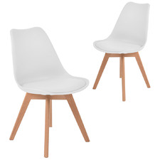 Eames Replica Faux Leather Dining Chairs (Set of 2)