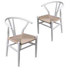 Amanda Hans Wegner Replica Dining Chairs (Set of 2)