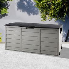 Black & Grey 290L Garden Storage Box