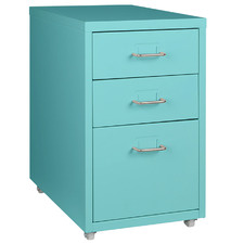 Turquoise Aniela 3 Drawer Filling Cabinet