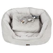 3 Piece PaWz Fleece Dog Bed Set